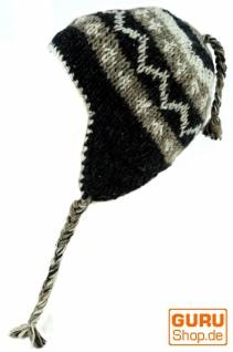 Wollmütze mit Ohrenklappen, Norwegermütze - - Norwegermütze grau b86ea8