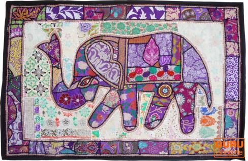Indischer Wandteppich Patchwork Wandbehang, Einzelstück 150*100 cm - Muster 10