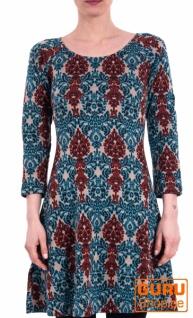 Kleid aus Bio-Baumwolle / Chapati Design - beige multi
