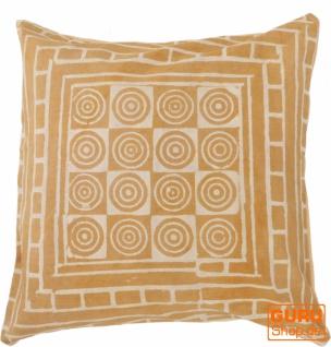 Kissenbezug Blockdruck, Dekokissen Bezug, Kissenhülle Ethno, Traditionelle Herstellung - Muster 30