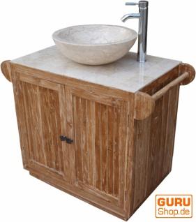 Waschtisch, Waschbecken, Antikweiß-Marmor - Kaufen bei Guru-Shop GmbH