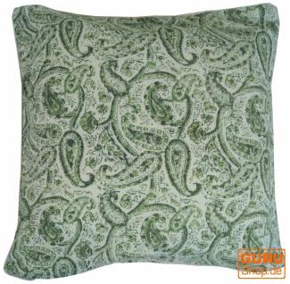 Kissenbezug Blockdruck, Kissenhülle Ethno, Dekokissen Bezug mit traditionellem Design - Muster 25