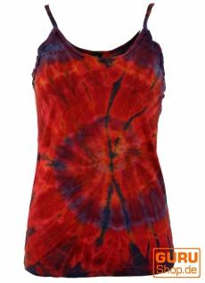 Farbenfrohes Goa-Batik Top, Batiktop - rot