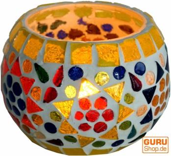 Mosaik Windlicht Glas 9 cm - 1