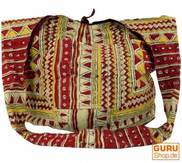 Sadhu Bag, Umhängetasche, Blockdruck Hippie Schultertasche - ethno/Muster