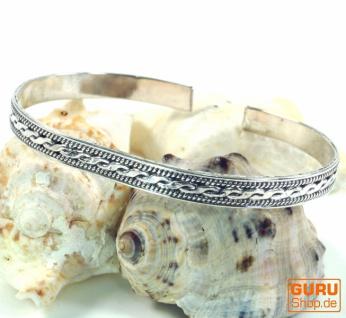 Silber Armreifen mit keltischem Knoten, keltische Armspange