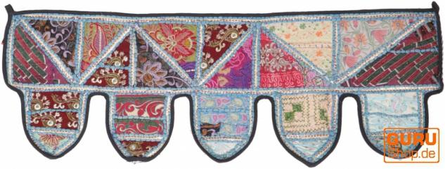 Orientalischer Wandbehang, indischer Toran, Wimpel Wandteppich, Wanddekoration, Tür Deko Einzelstück 90*30 cm - Design 12
