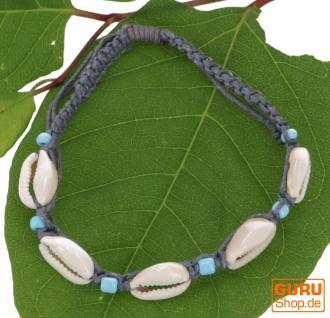 Perlenarmband, Muschel Makrameee Armband - Modell 2