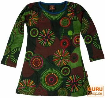 Bestickte Mädchen Tunika, Ethno Minikleid, Kinderkleid - grün