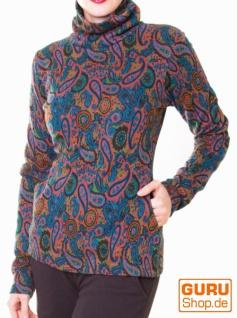 Pullover aus Bio-Baumwolle / Chapati Design - black paisley