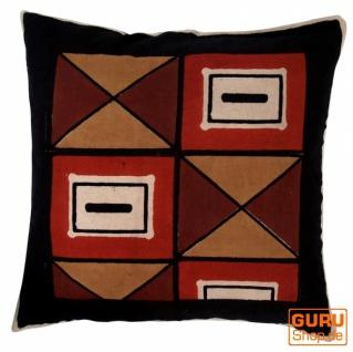 Kissenbezug Blockdruck, Dekokissen Bezug, Kissenhülle Ethno, Traditionelle Herstellung - Muster 6