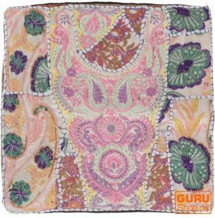 Patchwork Kissenhülle, Dekokissen Bezug aus Rajasthan, Einzelstück - Muster 20