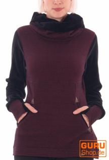 Pullover mit Kapuze aus Bio-Baumwolle / Chapati Design - burg bubble