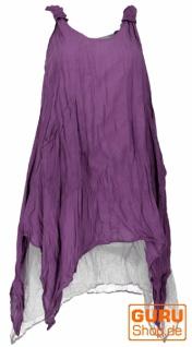 Boho Sommerkleid, luftiges Krinkelkleid, Maxikleid, Strandkleid, Lagenkleid - flieder