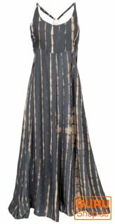 Batik Sommerkleid, Maxikleid, Strandkleid, Hippiekleid - dunkelgrau