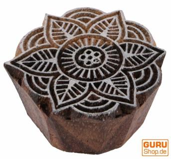 Indischer Textilstempel, Stoffdruckstempel, Blaudruck Stempel, Holz Model - 5*5 cm Blume 7