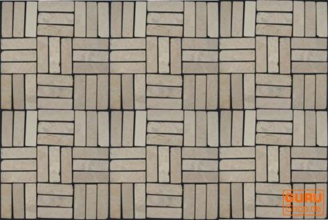 Stäbchen Mosaik Fliesen aus Marmor (P-05) - Design 12 - Vorschau 2