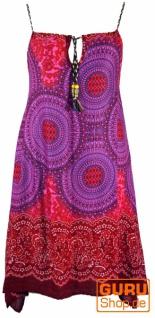 Boho Mandala Midikleid, Trägerkleid, Strandkleid für starke Frauen - fuchsia