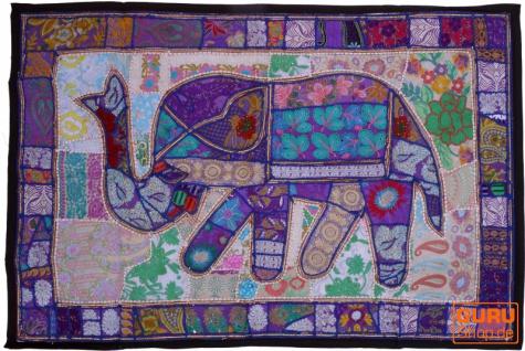 Indischer Wandteppich Patchwork Wandbehang, Einzelstück 150*100 cm - Muster 34