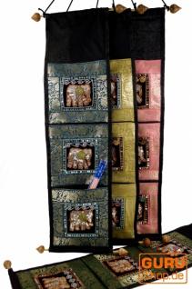 Wandtasche, Wand Aufbewahrung, Utensilientasche mit 3 Fächern aus Thailand - Muster 4