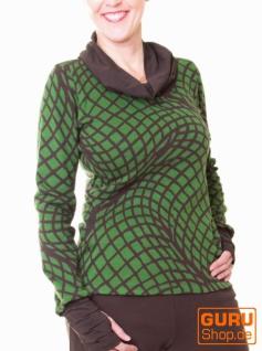 Pullover aus Bio-Baumwolle / Chapati Design - green/choco
