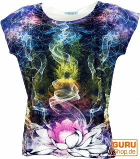 Psytrance T-Shirt, Yoga T-Shirt, Retro T-Shirt - Lotus