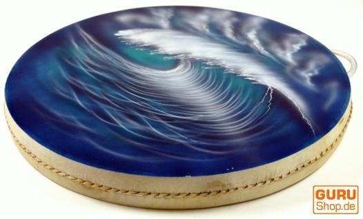 Wave Drum, Wellentrommel, Percussion Rhythmus Klang Instrumente - blau/türkis
