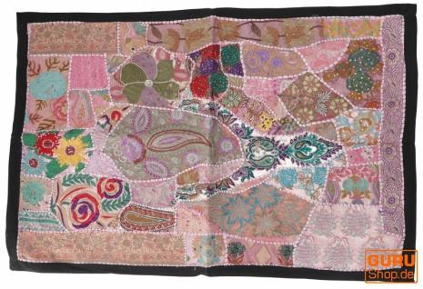 Indischer Wandteppich Patchwork Wandbehang/Tischläufer Einzelstück 90*65 cm - Muster 7