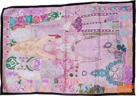 Indischer Wandteppich Patchwork Wandbehang, Einzelstück 150*100 cm - Muster 5