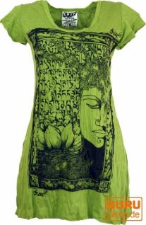 Sure Long Shirt, Minikleid Mantra Buddha - lemon