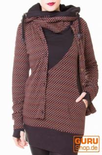 Tunika aus Bio-Baumwolle / Chapati Design - rust polka