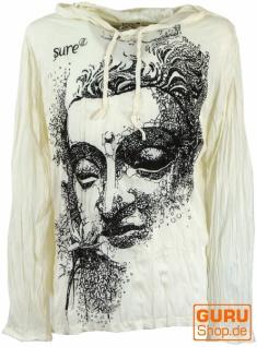 Sure Langarmshirt, Kapuzenshirt Dreaming Buddha - weiß