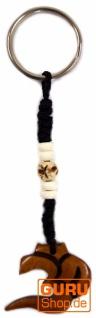 Ethno Tibet Schlüsselanhänger, Gravierter Taschenanhänger - Om