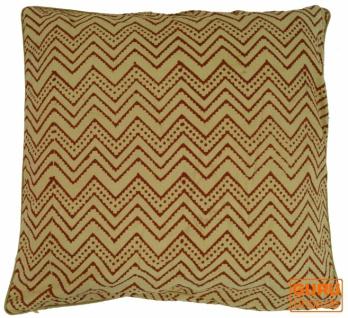 Kissenbezug Blockdruck, Kissenhülle Ethno, Dekokissen Bezug mit traditionellem Design - Muster 28