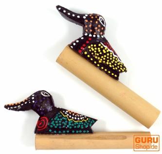 Musikinstrument aus Holz, handgearbeitet Pfeife, Flöte, Spaß Trompete - Bambus Tröte 3 - Vorschau 2