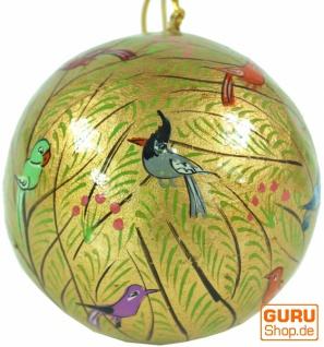 Upcyceling Weihnachtskugel aus Pappmachee, Handbemalter Christbaumschmuck, Kaschmirkugeln - Muster 23