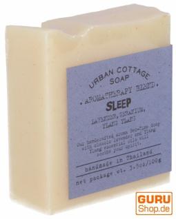 Handgemachte Aromatherapie Duftseife SLEEP, 100g, Fair Trade - Lavendel-Geranie-Ylang Ylang
