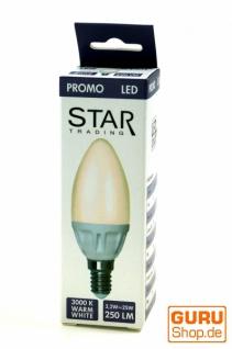 2er Set 3W LED Lampe Kerzenform E14 (250 LM ~ 25 W) - warmweiß
