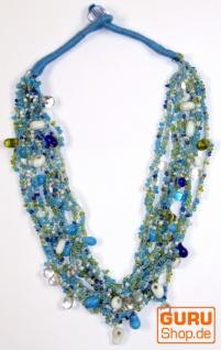 Modeschmuck, Boho Perlenkette - Model 1