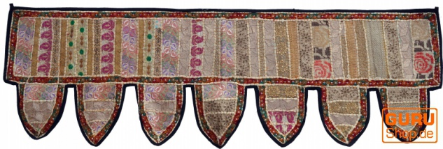 Orientalischer Wandbehang, indischer Toran, Wimpel Wandteppich, Wanddekoration, Tür Deko Einzelstück 150*45 cm - Design 1