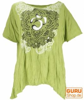 Baba T-Shirt für starke Frauen, Plus Size T-Shirt - lemongrün / Om