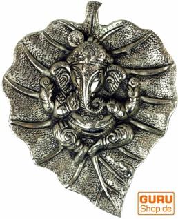 Ganesha Maske aus Weißmetall klein - Design 4