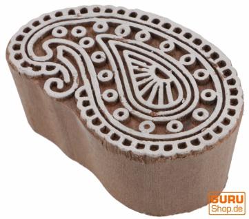 Indischer Textilstempel, Stoffdruckstempel, Blaudruck Stempel, Holz Modelt - 4*7 cm Paisley 1
