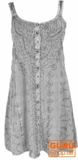 Besticktes indisches Boho Kleid, Hippie chic Minikleid - grau/Design 25