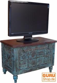 Kleine Plasma TV Box im Kolonialstil Fernsehtisch - blau - Vorschau 2