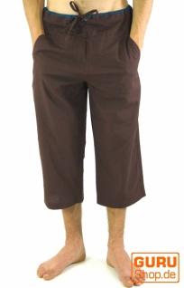 3/4 Yogahose, Goa Hose, Goa Shorts- kaffeebraun