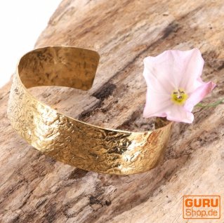 Armspange Messing, Boho Armreif - Model 2/gold