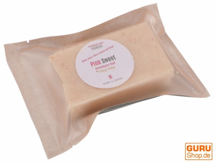 Handgemachte Duftseife mit Himalayasalz, 100 g Fair Trade - Pink Sweet - Vorschau 1