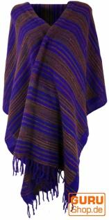 Weicher Goa Schal, großes Schultertuch, indischer Schal/Stola - violett