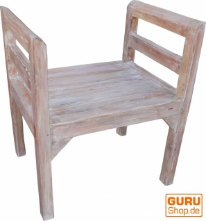Sitzbank, Schemel antikweiß - Modell 11